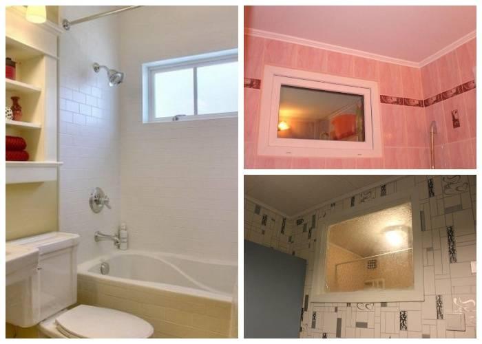 Окно между ванной и кухней: зачем оно нужно в «хрущевке» и как его оформить?