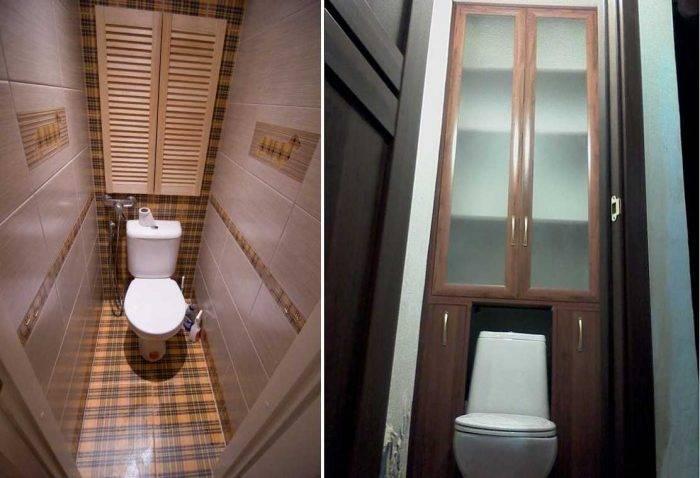 Встроенный шкаф в туалете за унитазом  (64 фото): модели шкафчиков, как сделать своими руками из плитки