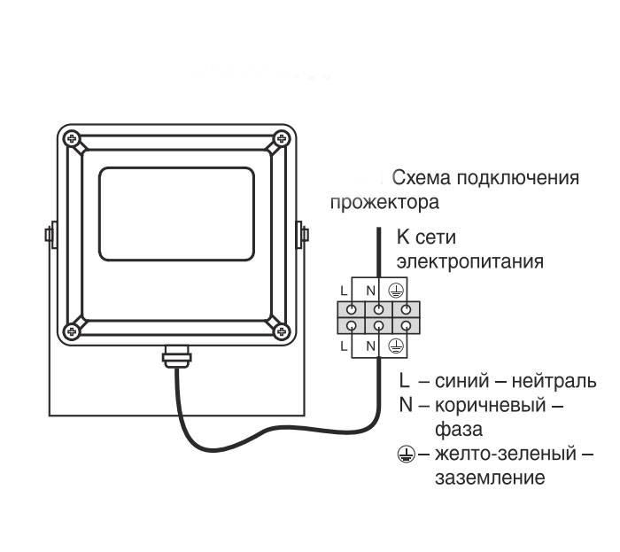 Подключение точечных светильников