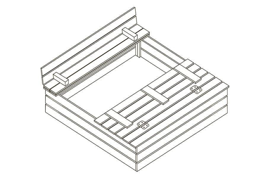 Как построить своими руками песочницу с крышкой