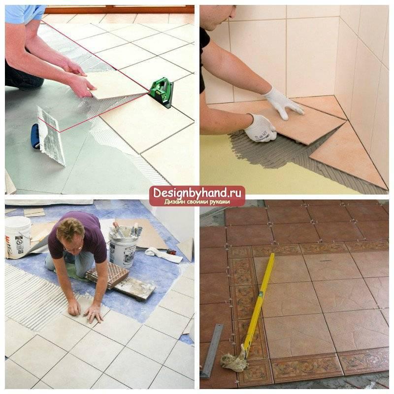 Технология устройства плиточных полов: укладка плитки с фото и видео, ремонт плиточных полов