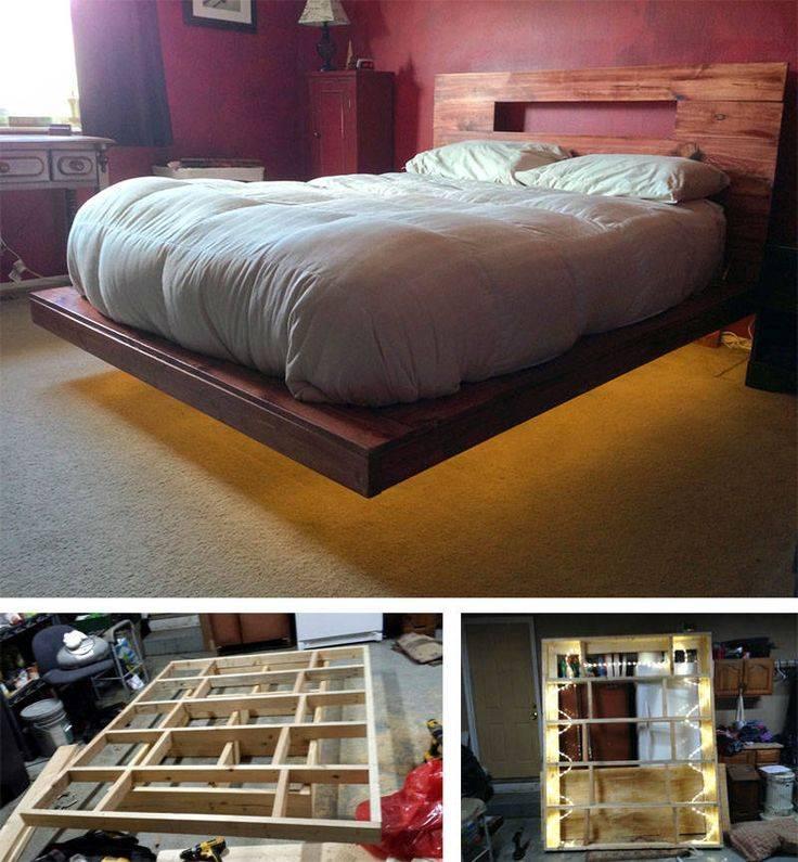 Двуспальная кровать своими руками: чертежи, схемы и фото, и как самому сделать из дерева, и как построить с подъемным механизмом?