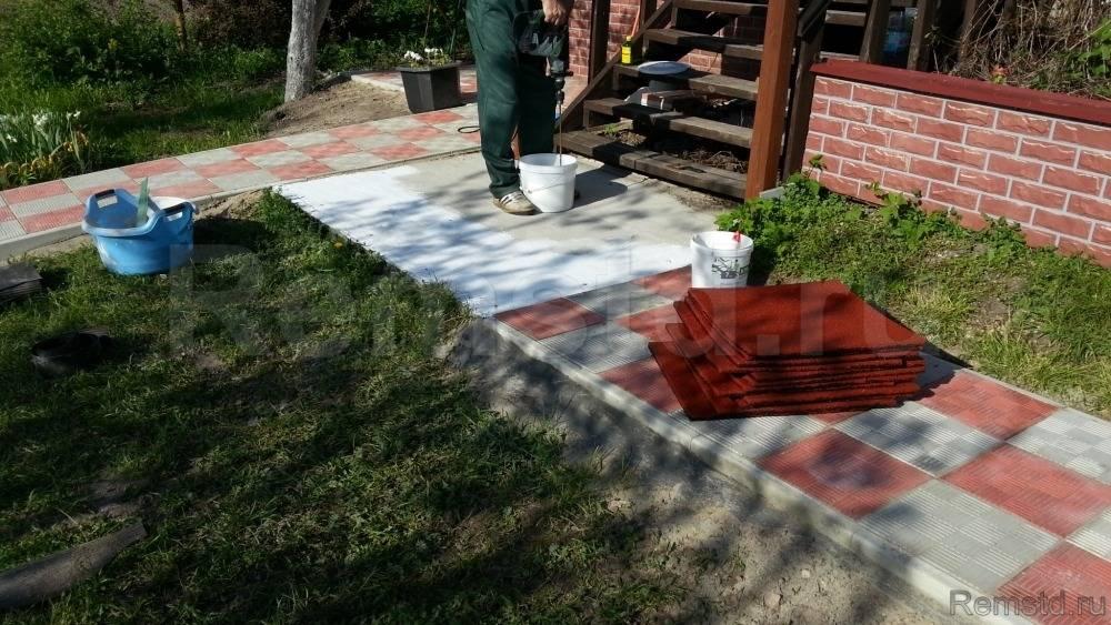 Укладка тротуарной плитки на даче - как правильно положить
