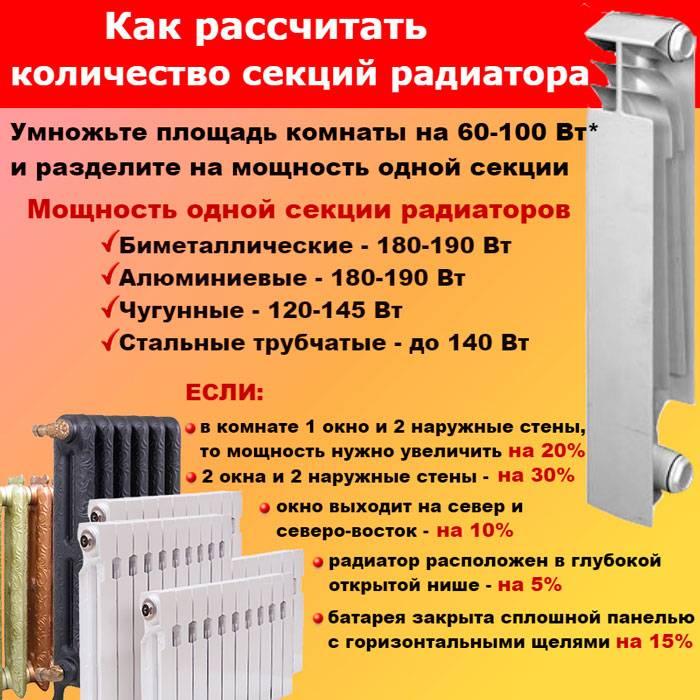 Расчет мощности батарей отопления | всё об отоплении