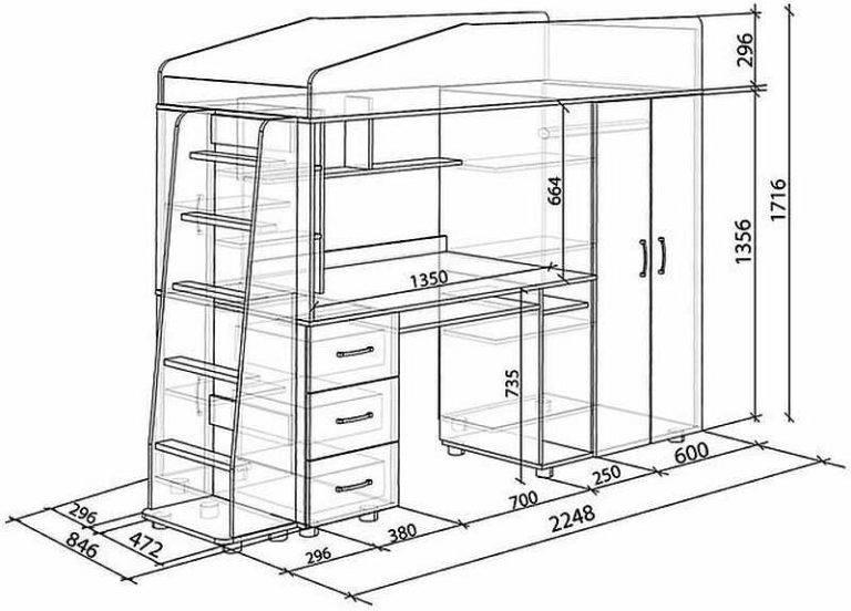 Как сделать кровать чердак своими руками, имея чертежи?