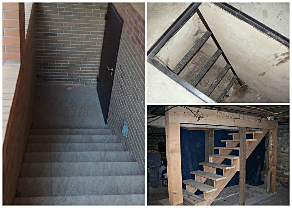 Лестница в погреб: из бетона, металла или дерева