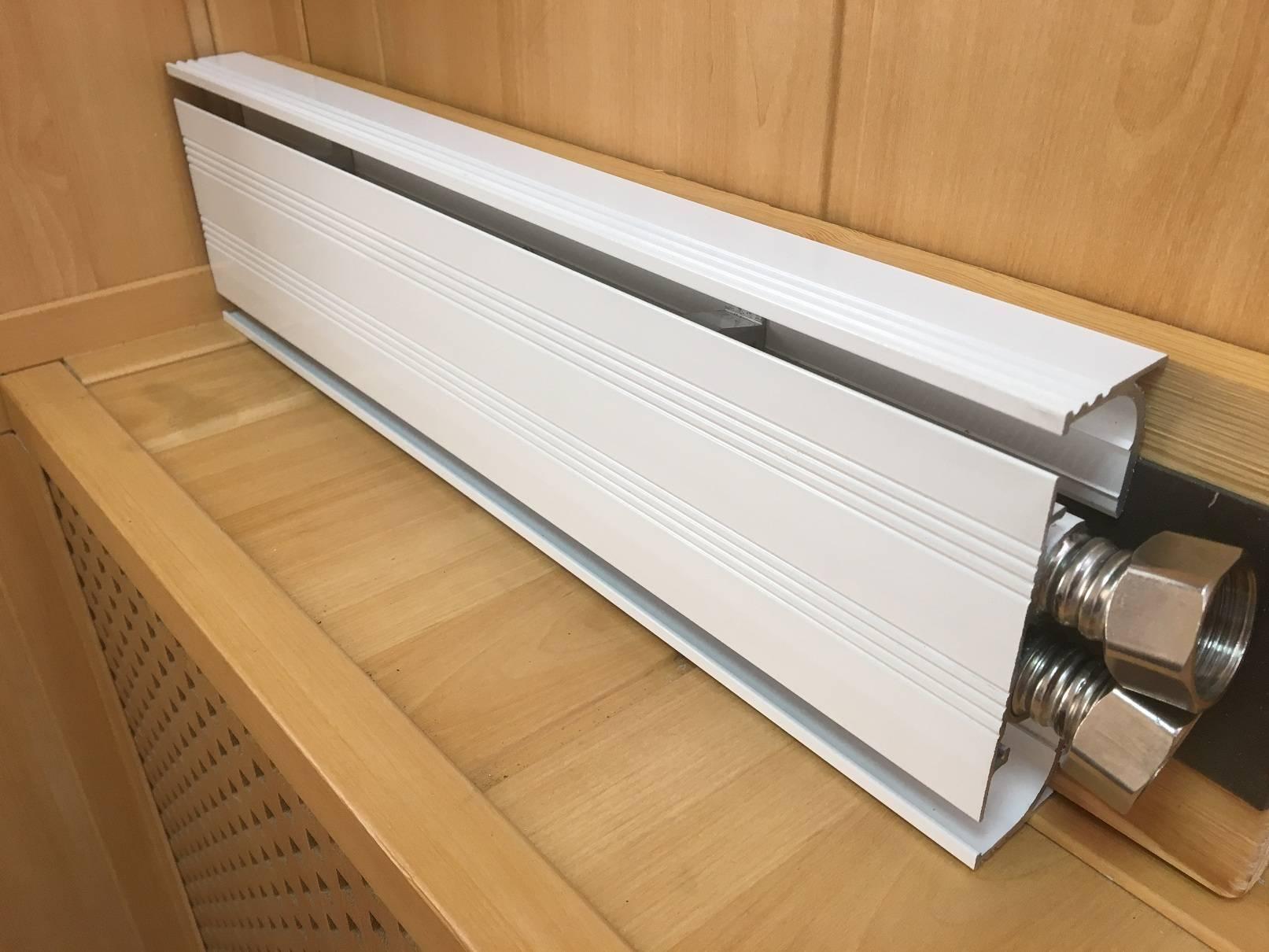 Теплый плинтус водяной для отопления: радиатор и батарея, электрические конвекторы