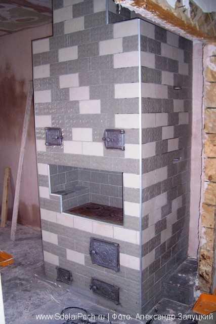 Керамическая плитка для облицовки печей - как облицевать печь кафелем своими руками