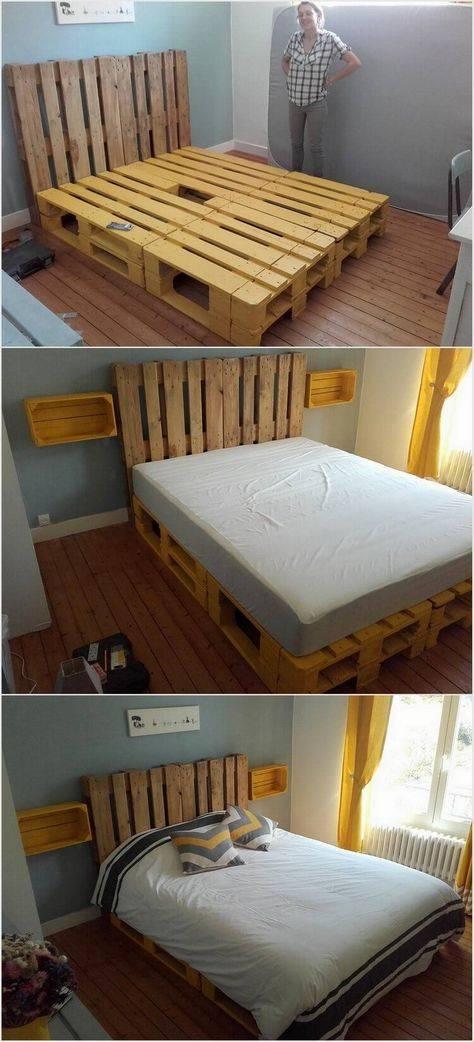 Кровать из поддонов своими руками пошагово + 800 фото