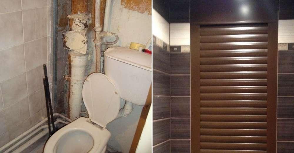 Как замаскировать трубы в ванной – доступные и практичные способы