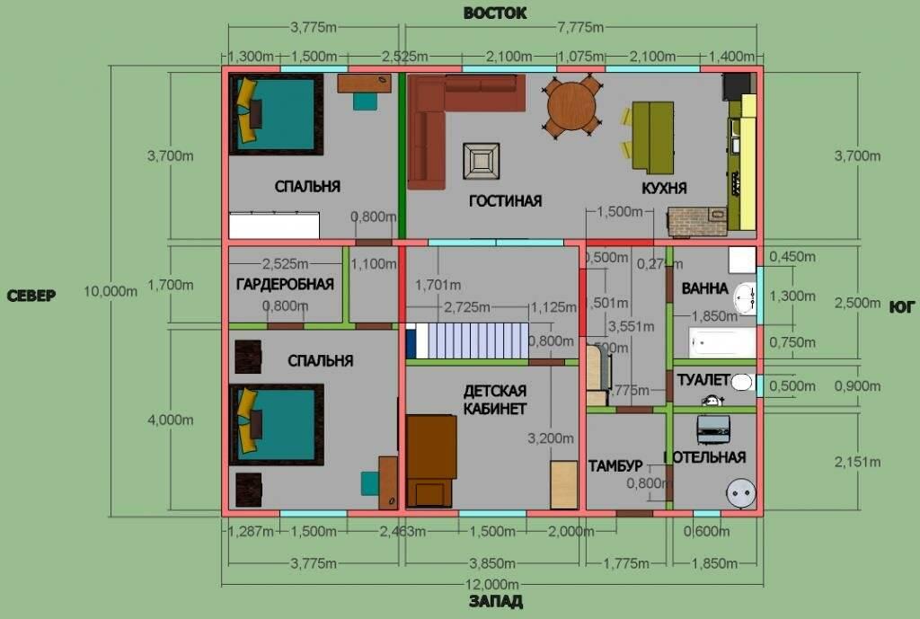 Красивые одноэтажные дома, или какой он— идеальный дом