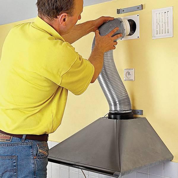 Установка вытяжки на кухне: правильный монтаж своими руками, нюансы подключения