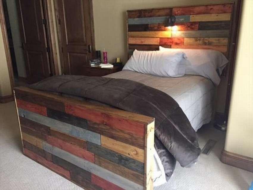 Кровать из поддонов: стильное дизайнерское решение своими руками
