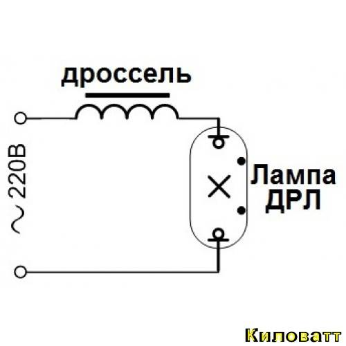 Описание лампы дрл