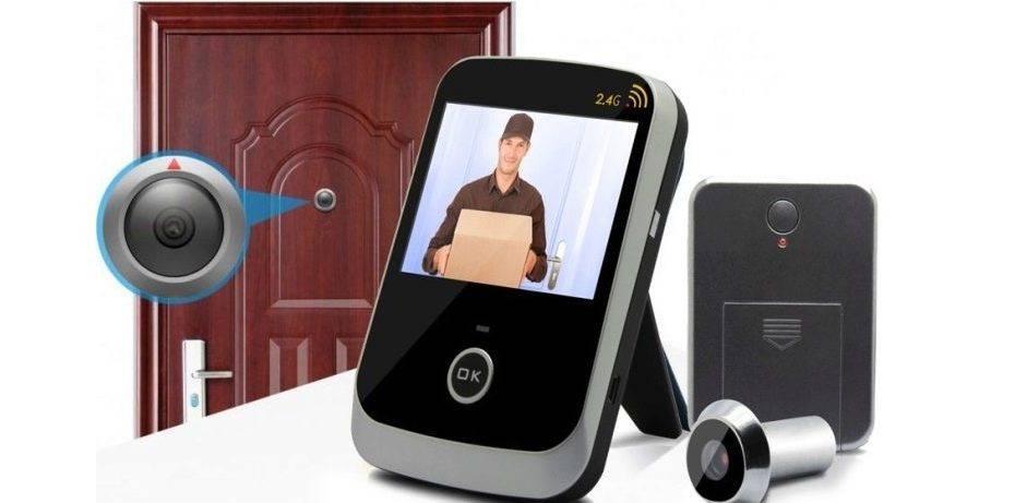 Беспроводной видеоглазок: дверные видеоглазки с wi-fi, автономный глазок с видеокамерой на входную дверь с монитором