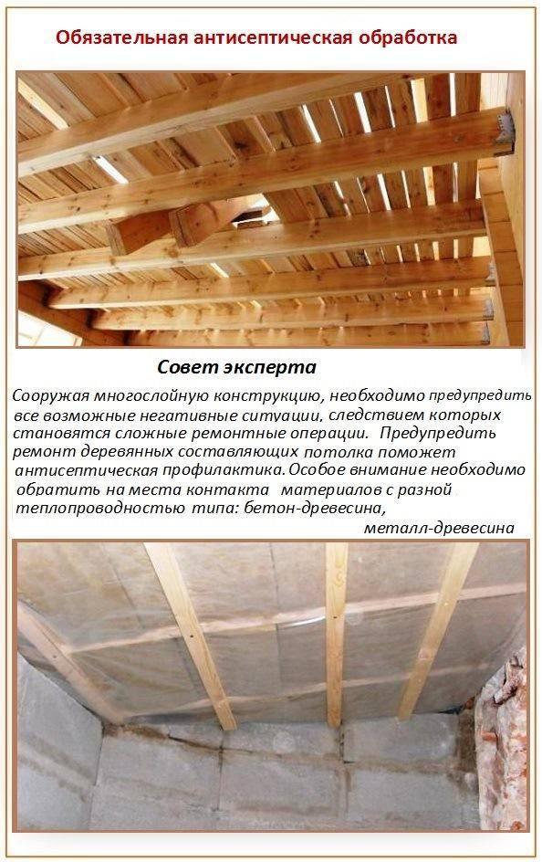 Утепление потолка в бане, создаем правильно пирог теплоизоляции своими руками