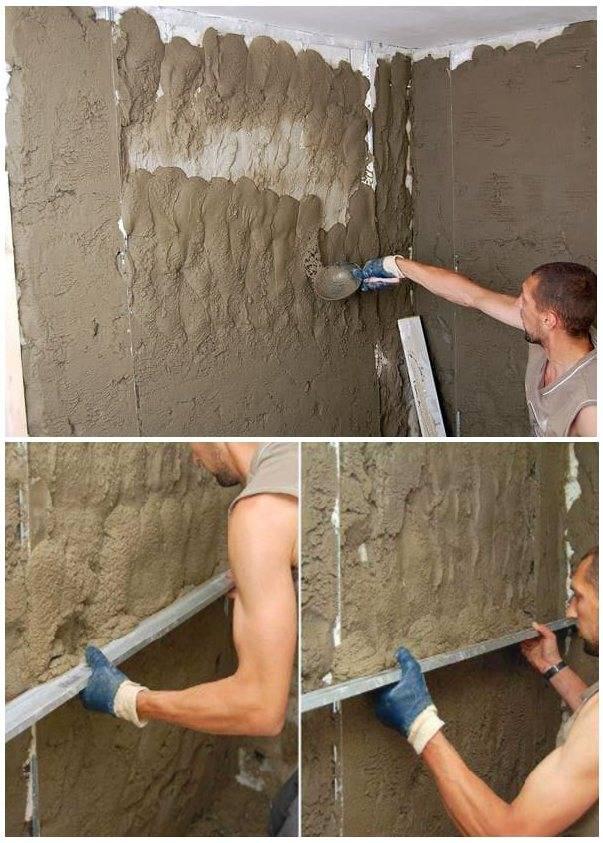 Как выравнивать стены в квартире самому. два способа: штукатурка по маякам и с помощью гипсокартона и профилей