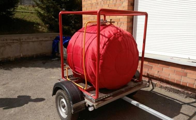 Мобильный газгольдер 600 литров на прицепе