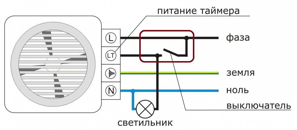Подключение вентилятора в санузле через выключатель света
