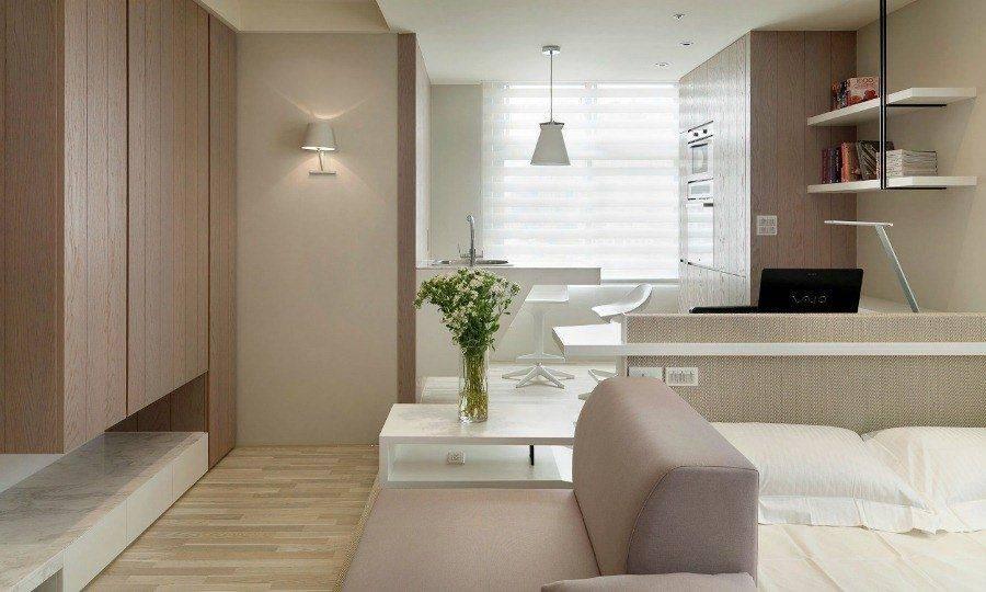 Оригинальный дизайн маленькой комнаты