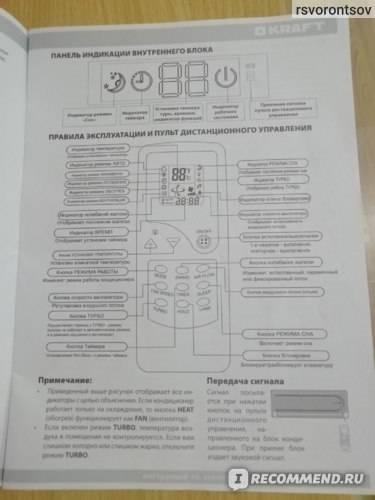 Инструкция к пульту от кондиционера green. подробно