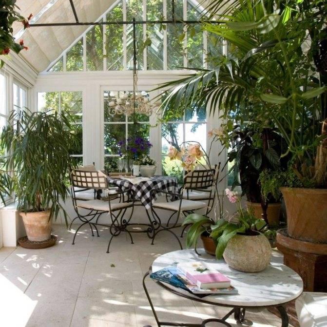 Зимний сад, его специфика, предназначение - фото примеров