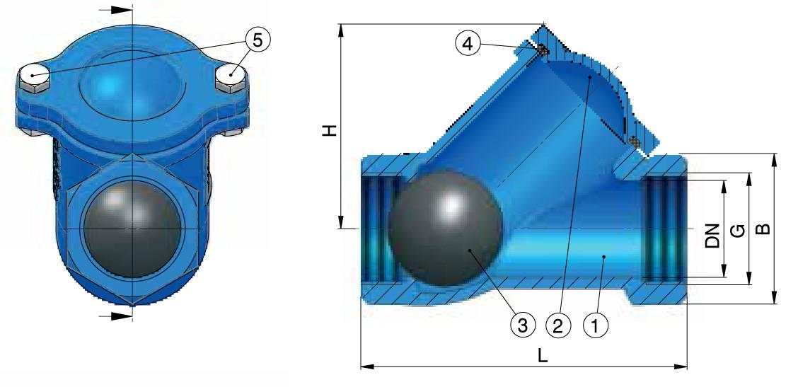Как выбрать обратный клапан для отопления: шаровой, лепестковый, схемы и конструктивные особенности
