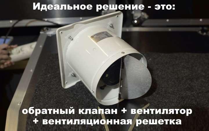 Взгляд изнутри: обратный клапан вентиляции