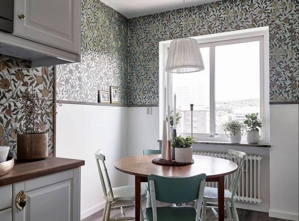 Какие обои лучше подойдут для кухни — фото дизайнов интерьера