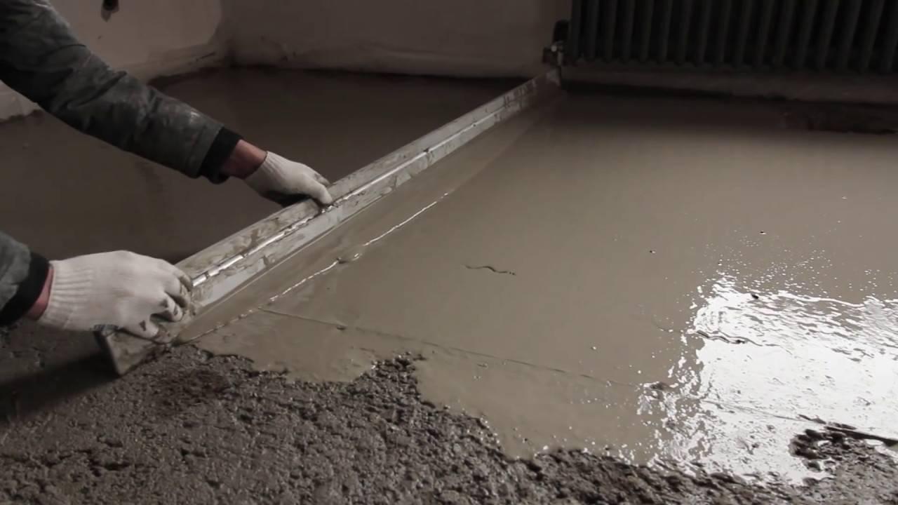 Бетонный пол в гараже: пошаговая инструкция, фото, видео