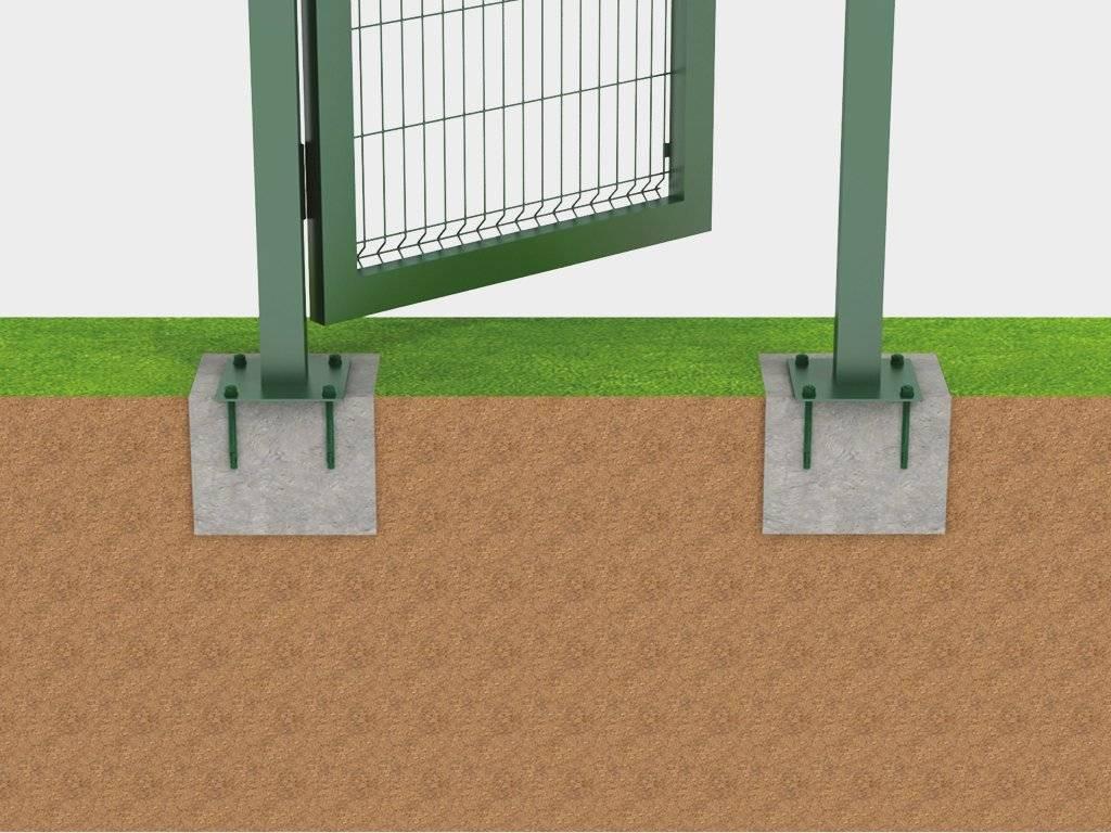Столбы для ворот из кирпича или металлических труб