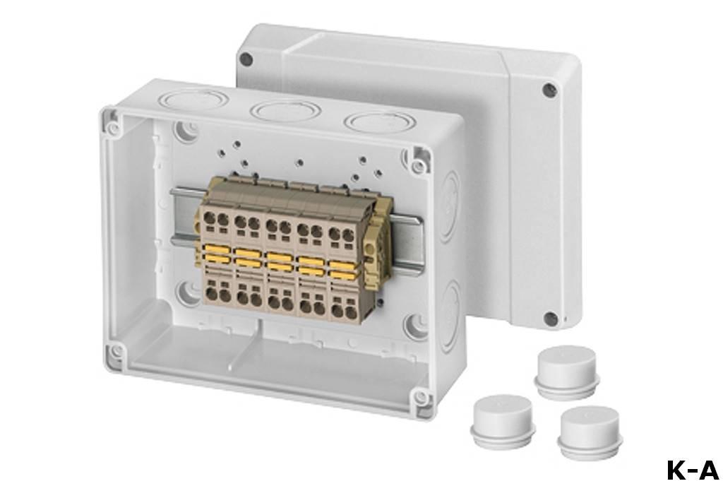 Распределительная коробка: 105 фото особенностей подбора для электропроводки
