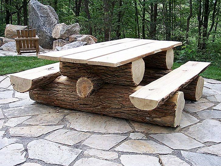 Стол на дачу своими руками: из какого дерева делать столешницу, где взять чертежи с размерами, чем покрасить для использования на улице и в саду