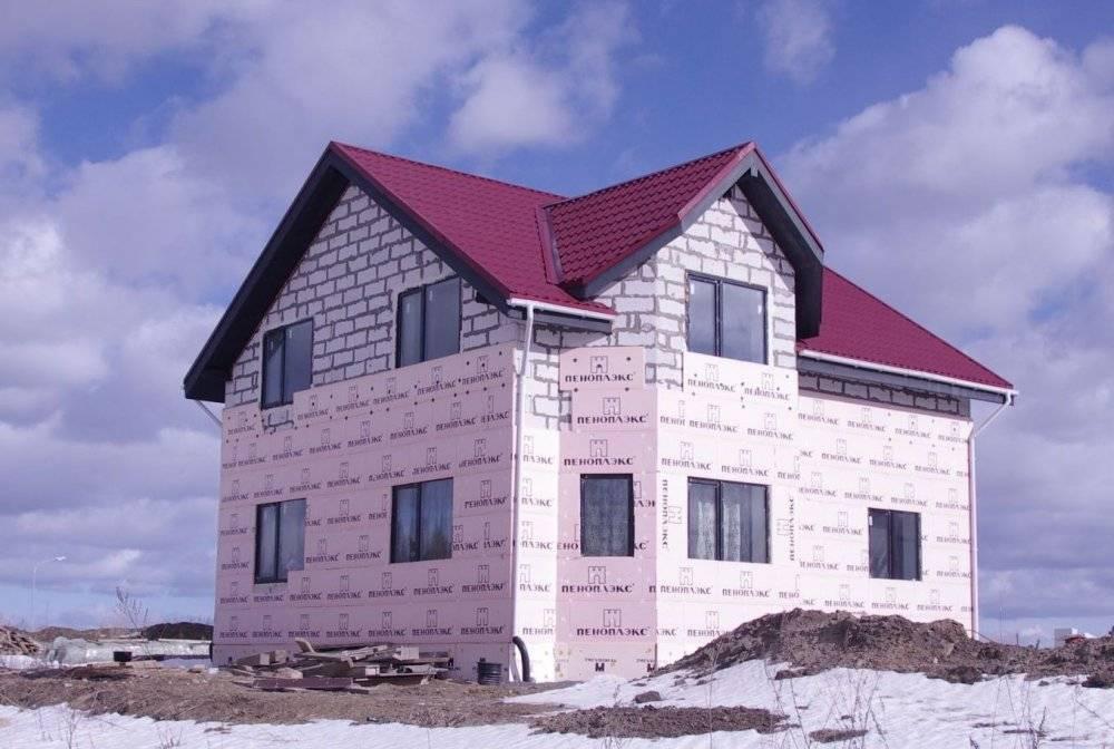 Утепляем дом из газобетона: используем пеноплэкс® стена
