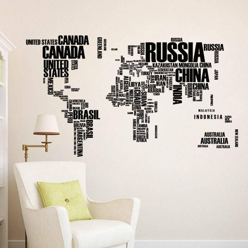 70 декоративных наклеек на стены, пример дизайна