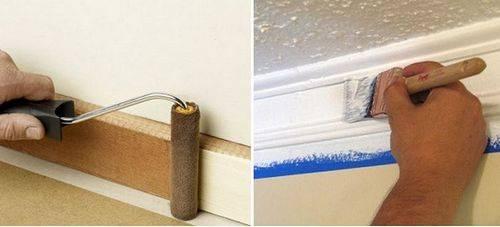 Покраска потолка акриловой краской: как красить потолок валиком, как правильно покрасить, как разводить краску