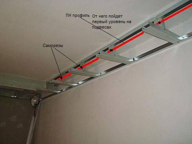 Двухуровневые потолки из гипсокартона: особенности дизайна