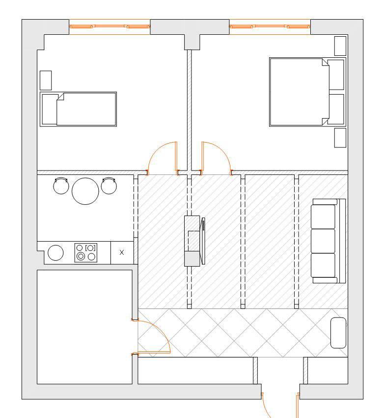 Как сделать двухкомнатную квартиру из однокомнатной?