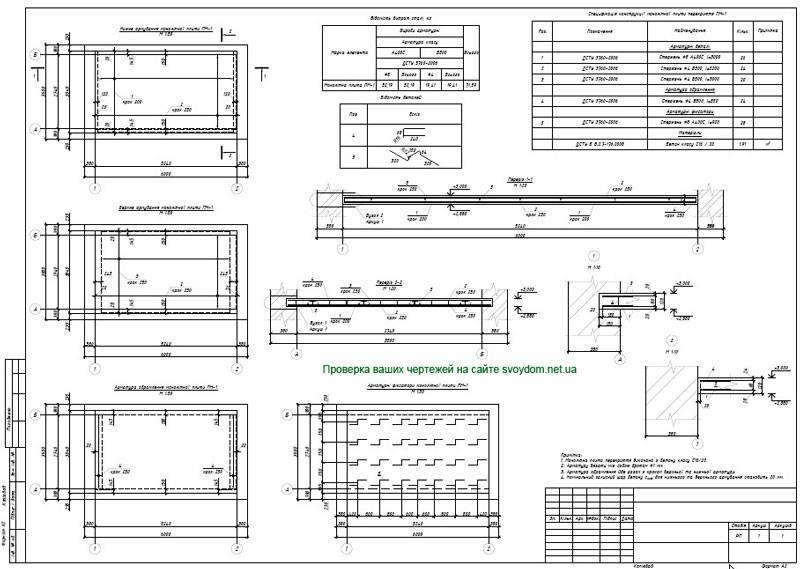 Расчет монолитной плиты фундамента - калькулятор и примеры