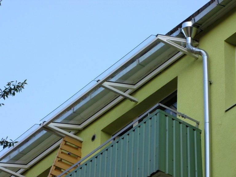 Крыша балкона своими руками