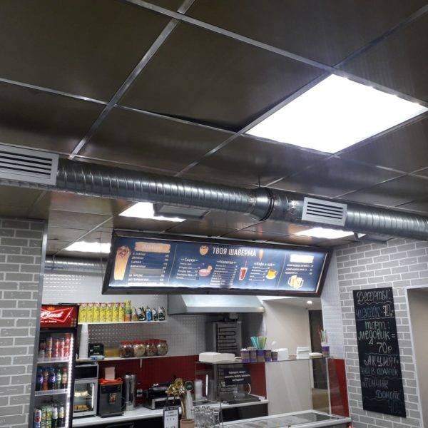 Проект и расчет системы вентиляции кафе в жилом доме