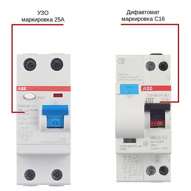 Узо и дифавтоматы: в чем разница и отличия, что лучше выбрать, как отличить визуально