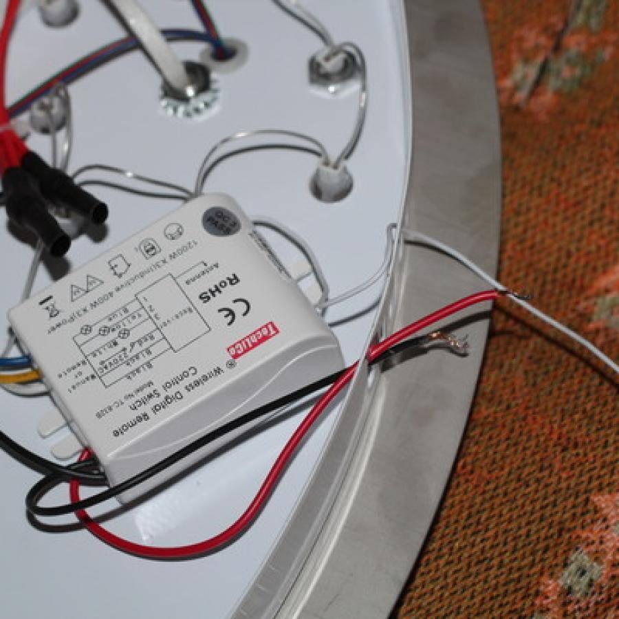 Подключение светодиодной люстры с пультом управления — инструкция и схема