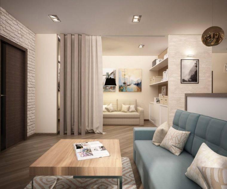 Дизайн типовой двухкомнатной квартиры - большой выбор стилей