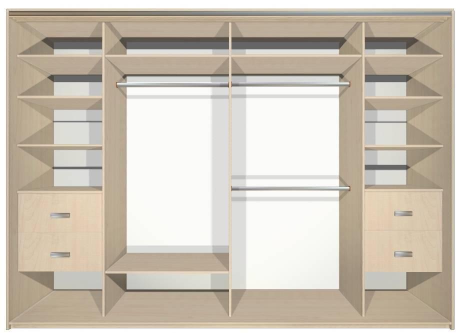 Наполнение шкафа-купе (108 фото): варианты внутреннего наполнения в прихожей модели размером 3 метра, дизайн и планировка встроенного купе