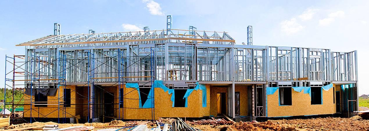 Каркасный дом из металлопрофиля: профиль для металлического каркаса, чертеж постройки из металла, железные конструкции из профильной трубы