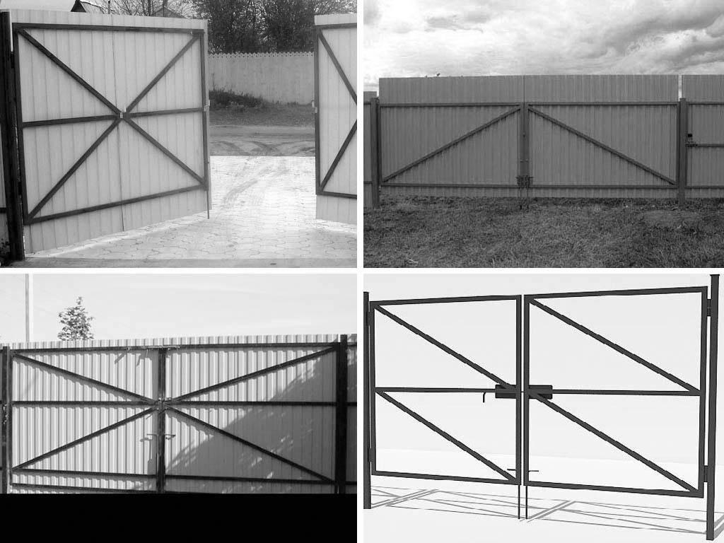 Как правильно сварить ворота из профильной трубы - всё о воротах и заборе