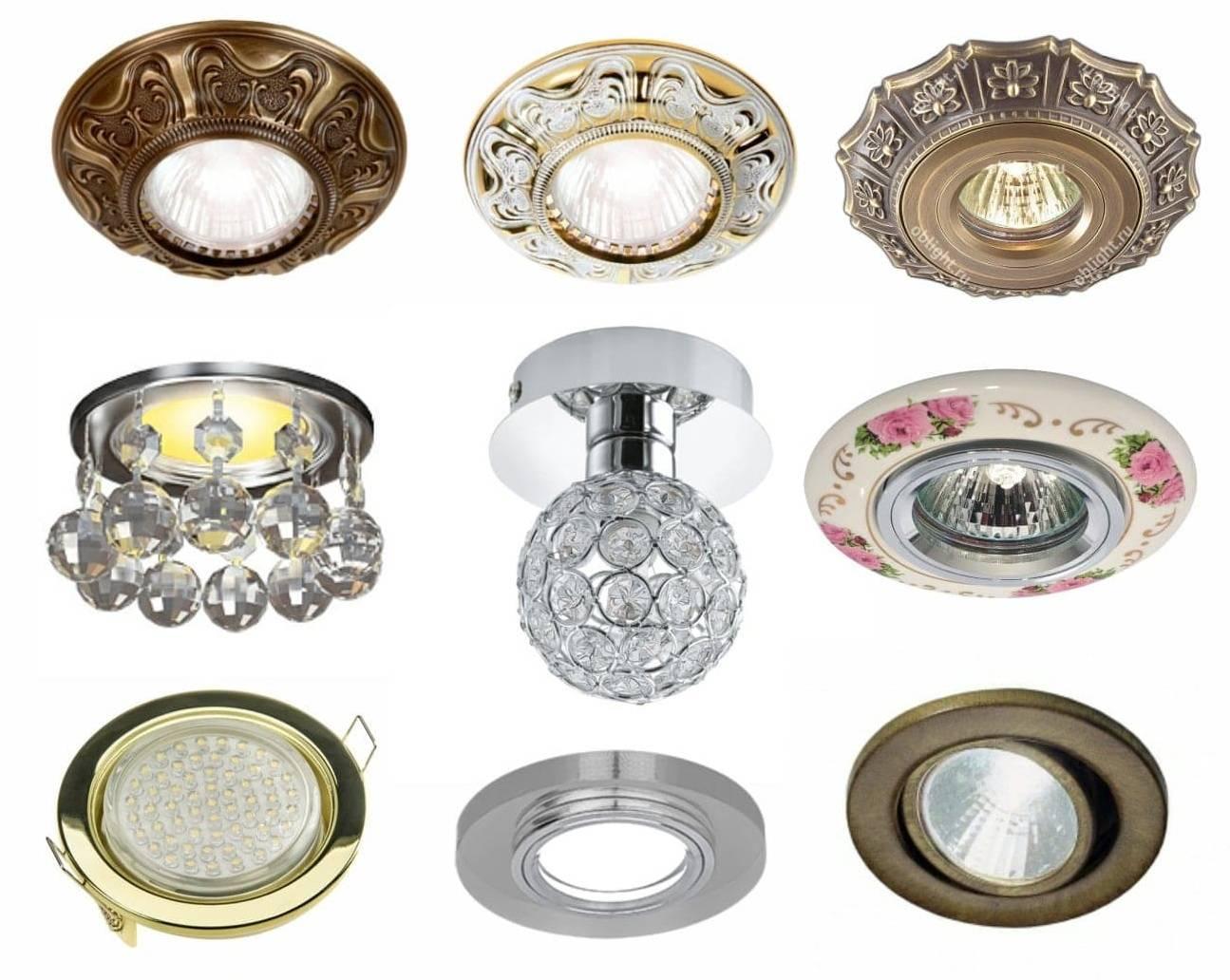 Светильники потолочные для натяжных потолков светодиодные