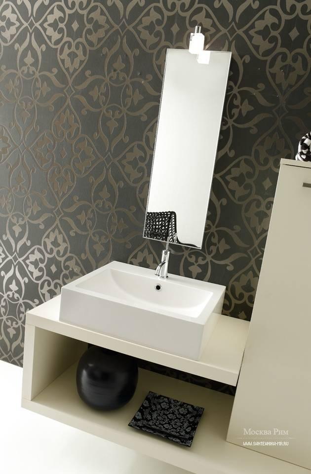 Обои в интерьере ванной комнаты, особенности применения с фото