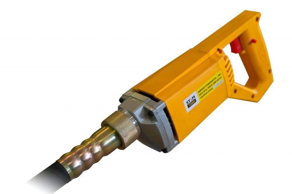 Глубинный вибратор для бетона: устройство, разновидности, изготовление